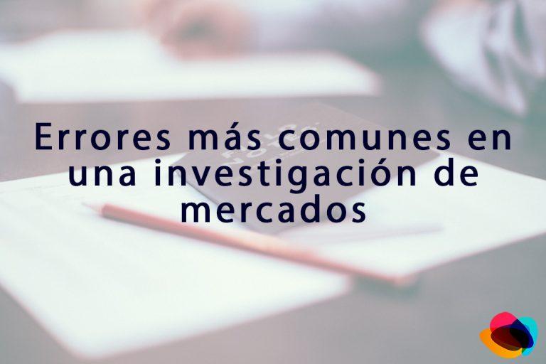 errores investigacion de mercados