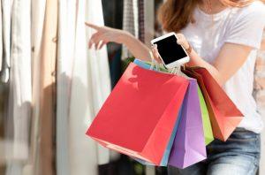 shopper en la calle